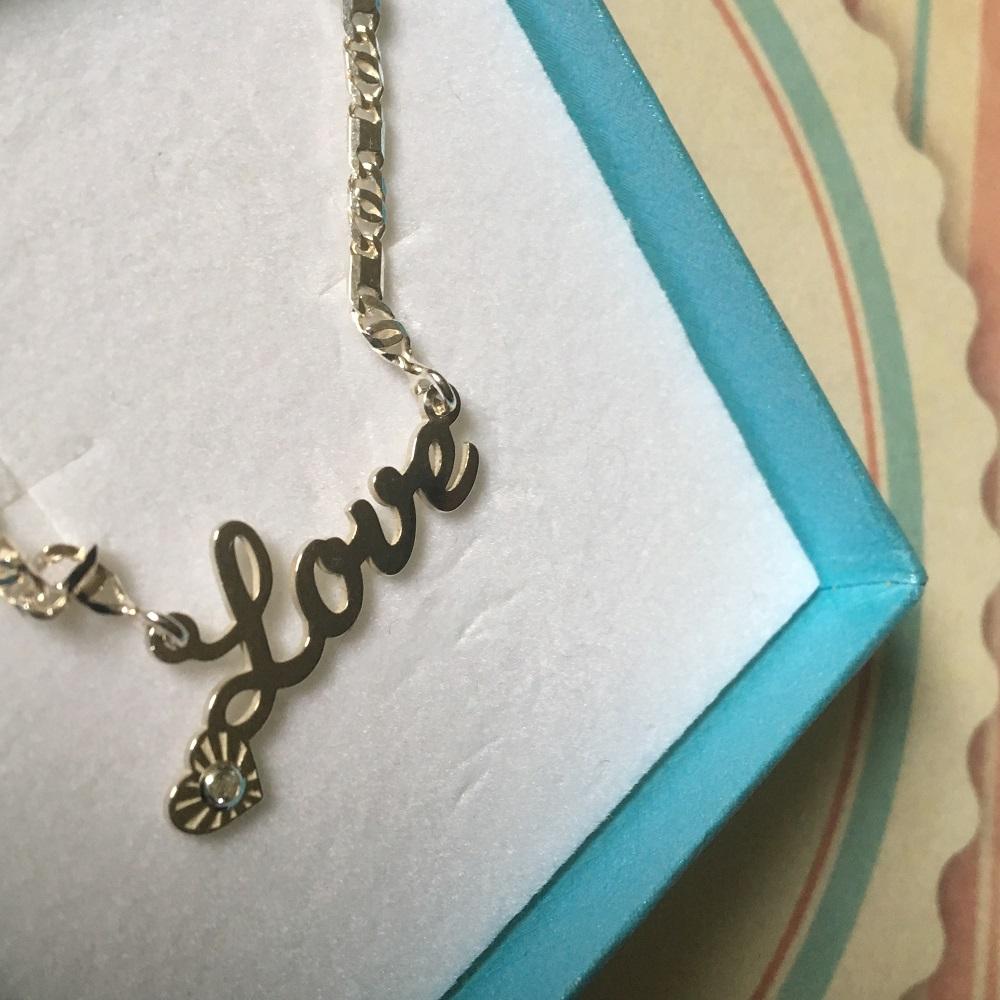 Verliebt mit namesforever Schriftzug Love Sunnyside of life