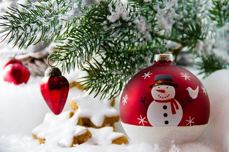 Weihnachten unter Palmen Weihnachtskugel Sunnyside-of-life
