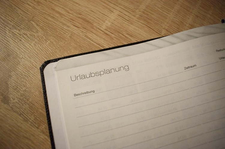 Notiz Timer von Häfft Schriftzug Urlaubsplanung Sunnyside-of-life