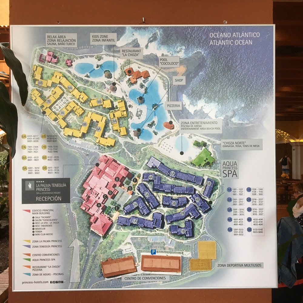 Die Reise nach La Palma - Teil 2 - Lageplan Hotel La Palma Princess - Sunnyside-of-life