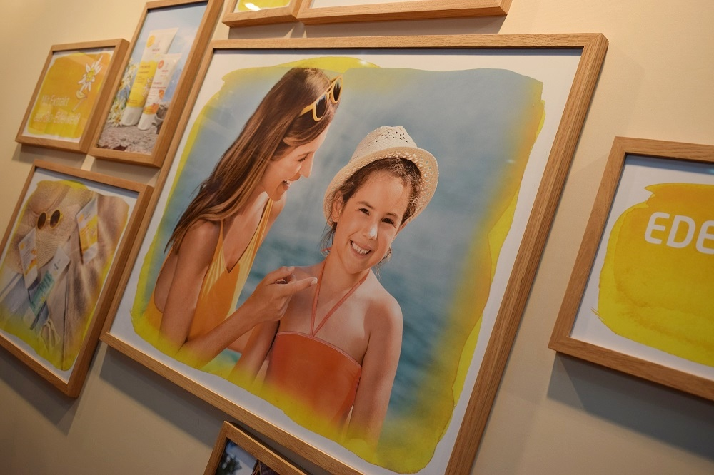 Weleda Edelweiss Sonnencreme Bilder auf Weledastand auf der Biowest www.sunnyside-of-life.de