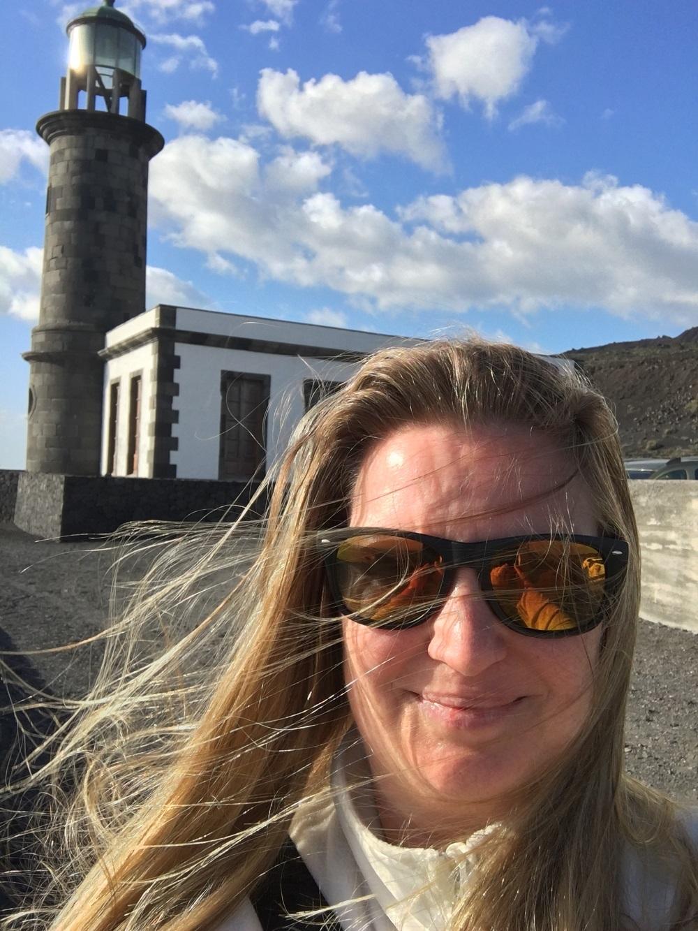 Urlaub auf La Palma Natascha Reis am Leuchtturm Salinas Fuencaliente