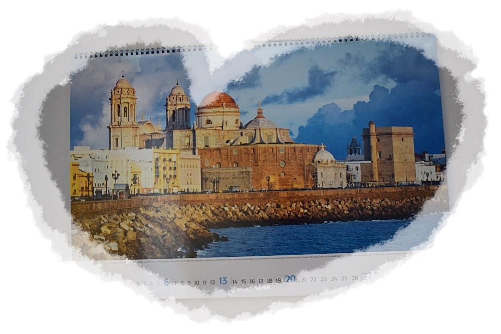 Panoramakalender Andalusien Korschverlag Kalenderblatt Januar Stadt Cadiz