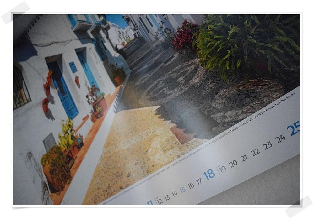 Panoramakalender Andalusien Korschverlag Kalenderblatt mit Gasse