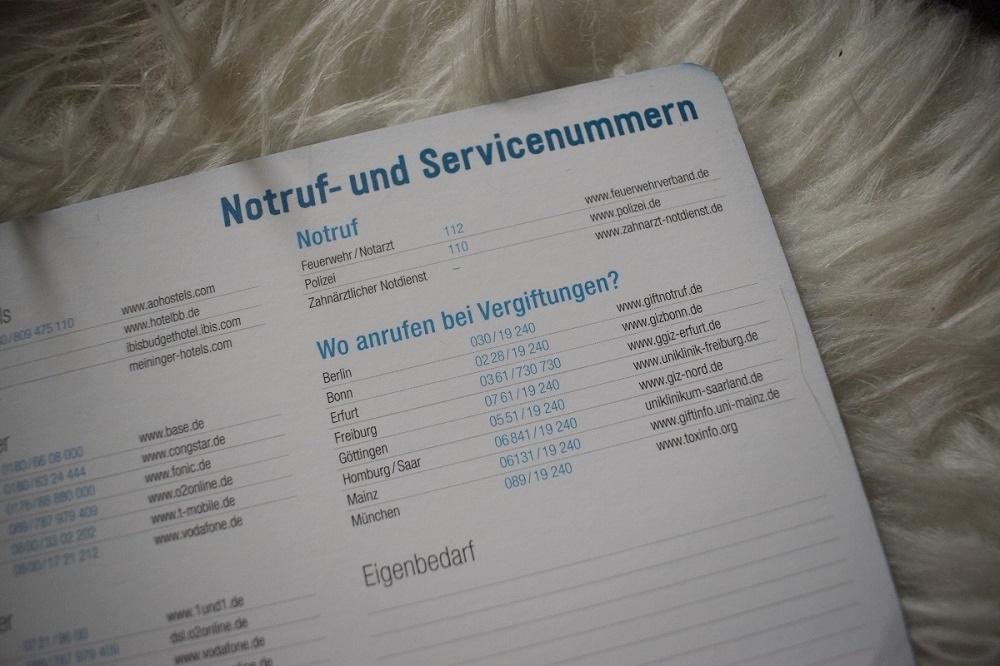 Jahresplanung 2019 mit Häfft Notruf- und Servicenummern