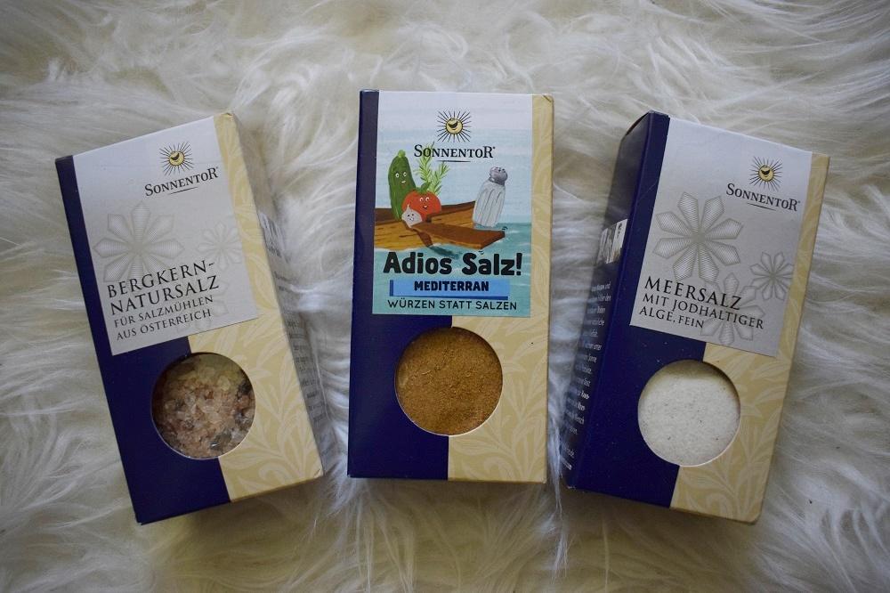 BFE Bloggertreffen 2019 die Goodiebag Sonnentor Salze und Gewürz mediterran