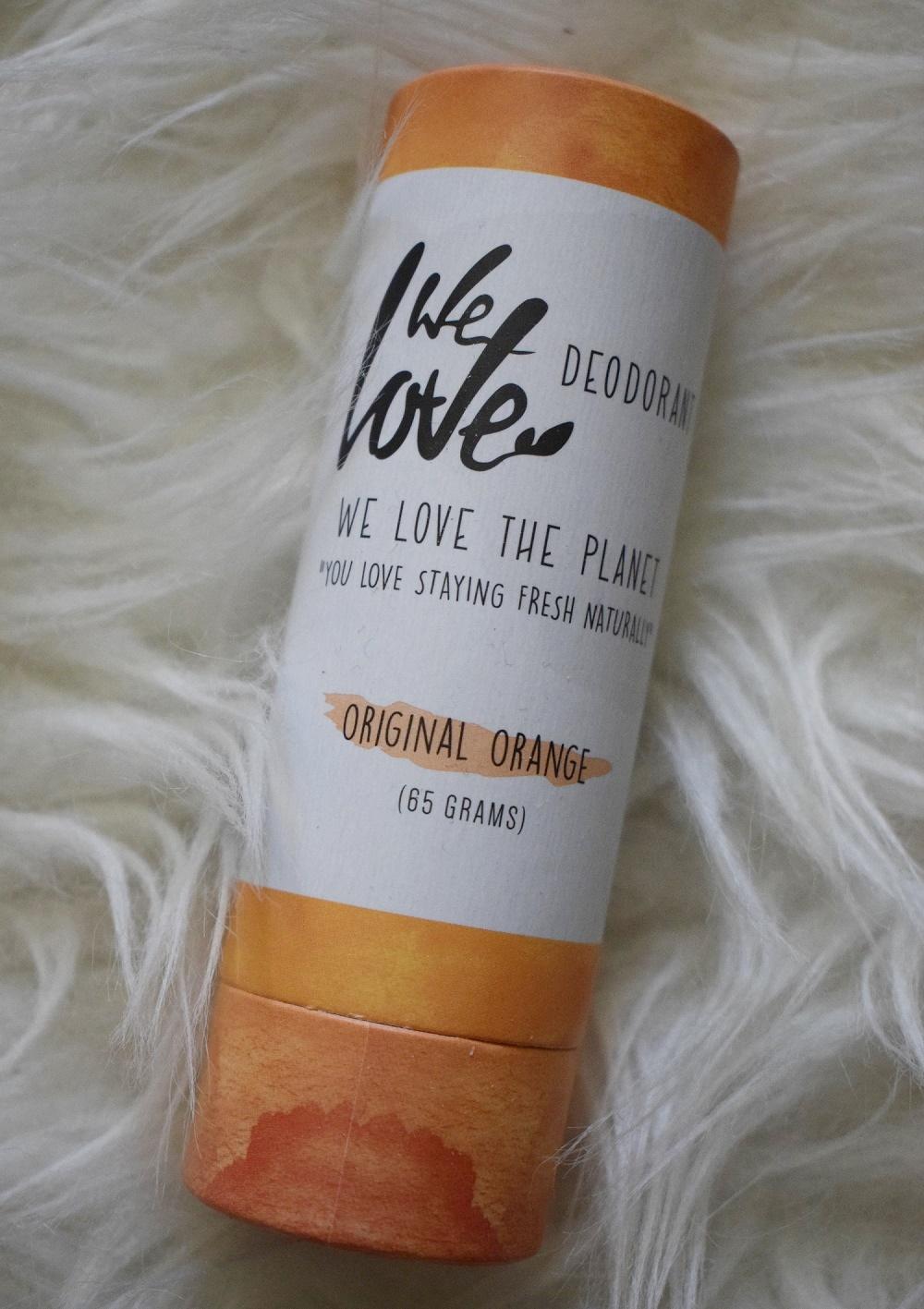 BFE Bloggertreffen 2019 die Goodiebag We love the planet Deostick Original Orange