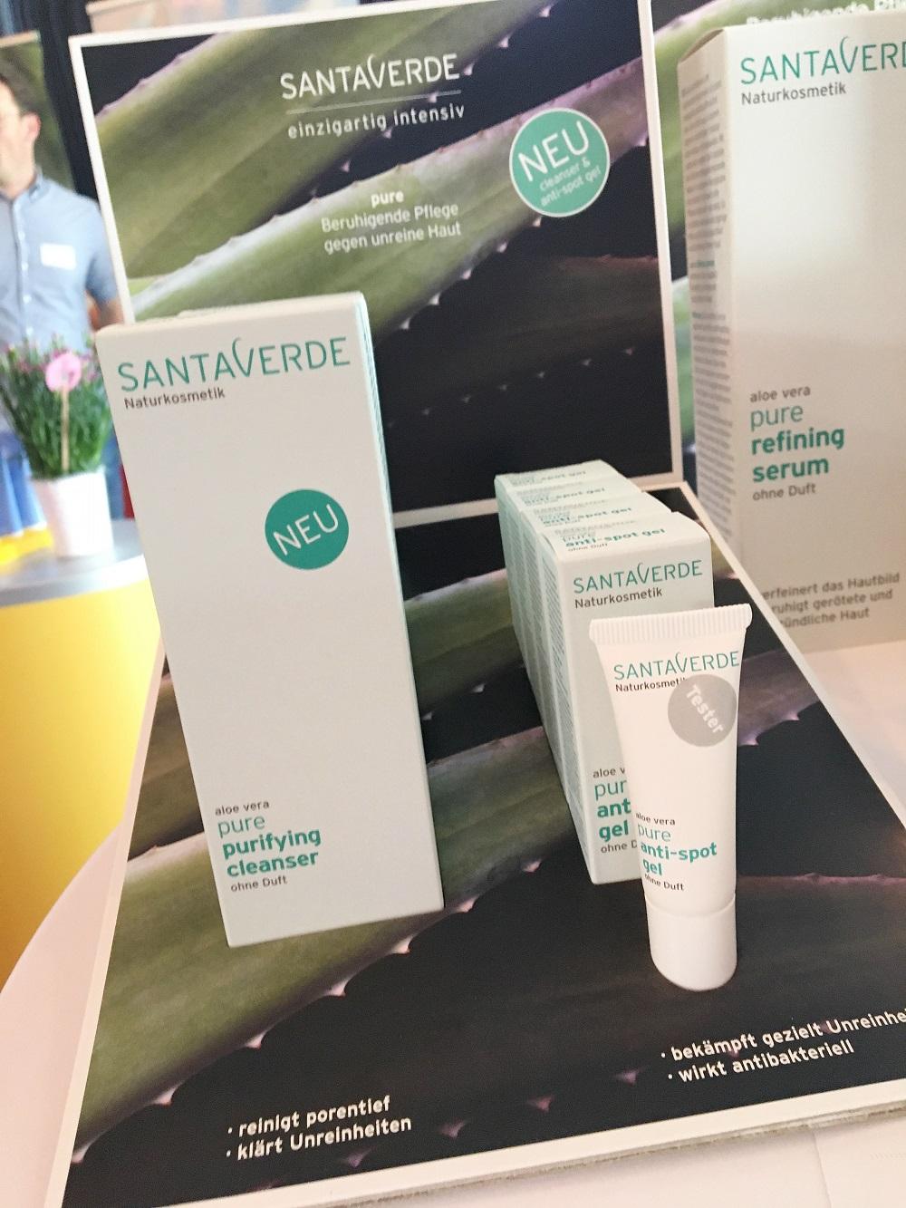 Green Cosmetics Bloggerevent Santaverde Pure Produktserie