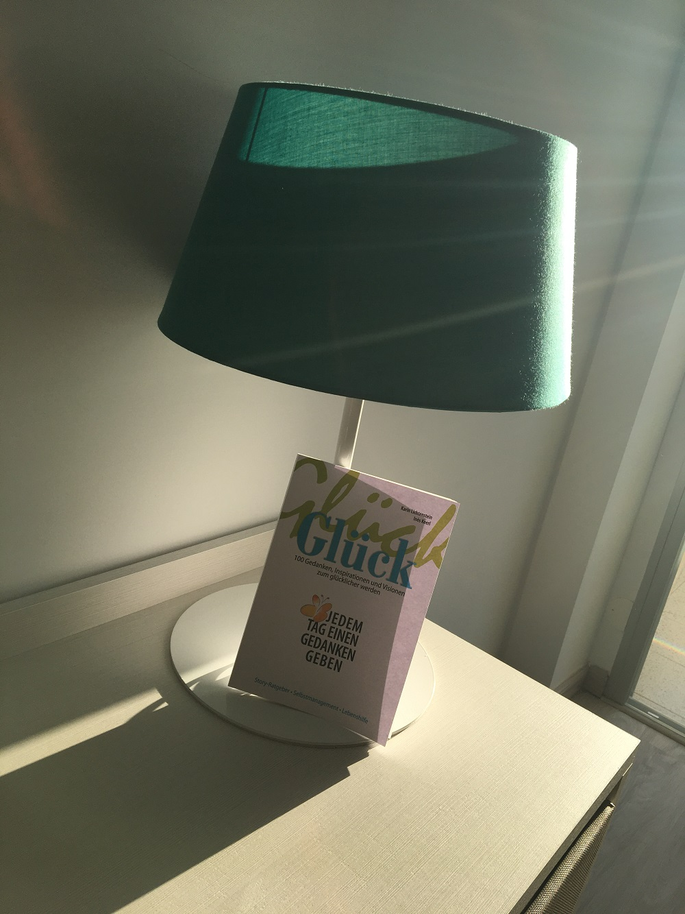 wie startest Du in den Tag Buch angelehnt an eine Lampe