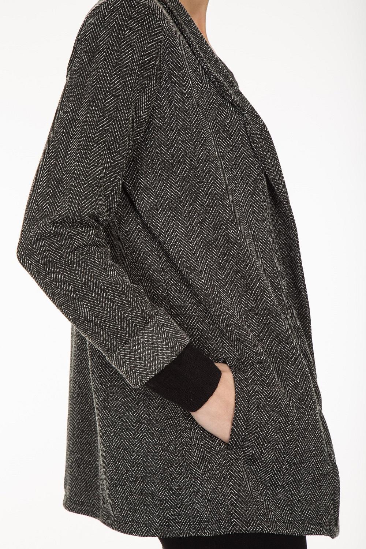 Strickjacken Strickjacke schwarz-weiss